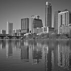 Austin Skyline Reflection in Shades by Roschetzky