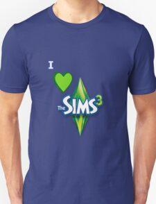 I Love The Sims 3 Design T-Shirt