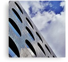 "Reflections on Perforated Steel"". Circular Façade Study # 1.  Canvas Print"