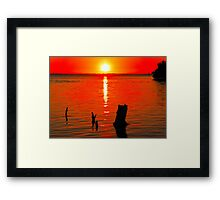 Red Sunset at Bunche Beach  115 Views Framed Print