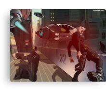 Rhino City mock scene Canvas Print