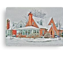 Corner House  and the Snow Canvas Print