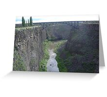 Crooked River Gorge, Oregon Greeting Card