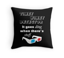 Doctor Who Timey Wimey Detector 3D Glasses Throw Pillow