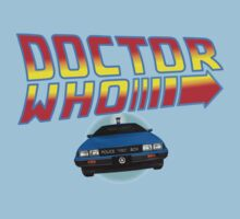 Back to Doctor Who Mash Up with Type 40 Delorean Baby Tee