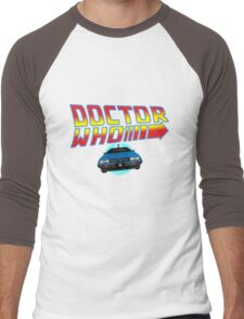 Back to Doctor Who Mash Up with Type 40 Delorean Men's Baseball ¾ T-Shirt