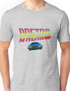 Back to Doctor Who Mash Up with Type 40 Delorean Unisex T-Shirt