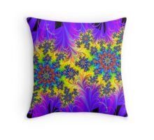 Charged Particles Throw Pillow