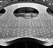 """""""Perforated Steel"""". Circular Façade Study # 2. by PAPERPLAN"""