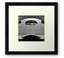 """Perforated Steel"". Circular Façade Study # 2. Framed Print"