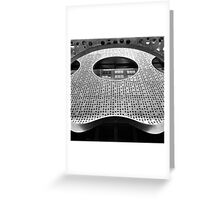 """Perforated Steel"". Circular Façade Study # 2. Greeting Card"