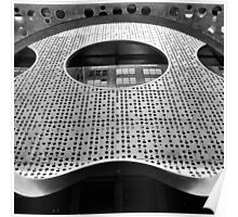 """Perforated Steel"". Circular Façade Study # 2. Poster"