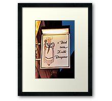 Sign Collection 9 Framed Print