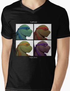 Turtlez: Pizza Dayz Mens V-Neck T-Shirt