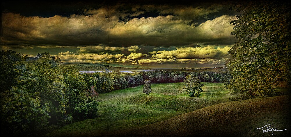 Hudson River Meadow by Ted Byrne