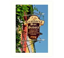 Sign Collection 12 Art Print