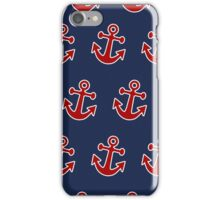 Anchor Away - Red, White, & Blue iPhone Case/Skin
