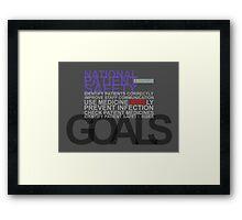 Safety Goals Framed Print