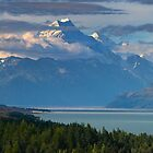 Mt Cook in evening light by Ian Fegent