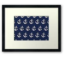 Anchor Away - White Framed Print