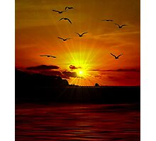 THE SUNSET OF MY LIFE Photographic Print
