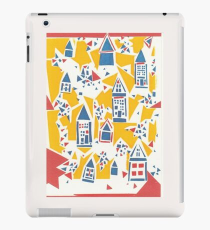 Screenprinted Houses  iPad Case/Skin
