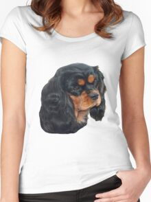 Black & Tan Cavalier King Charles Spaniel Women's Fitted Scoop T-Shirt
