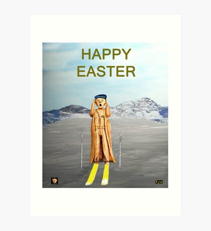 The Scream World Tour Skiing Happy Easter Art Print