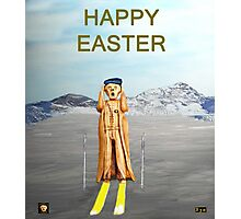 The Scream World Tour Skiing Happy Easter Photographic Print