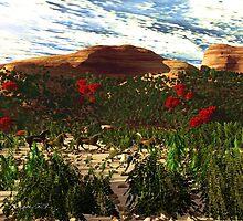 Dancing Horses in Sandstone Canyon.(big format) by alaskaman53
