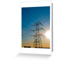 Beijing Pylons at Sunset Greeting Card
