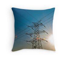 Beijing Pylons at Sunset Throw Pillow
