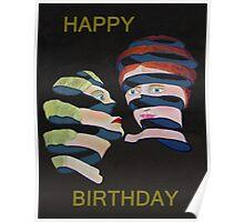 Lesvos By Night Happy Birthday Poster