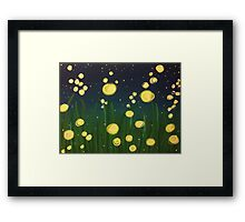 Summer Fireflies Framed Print