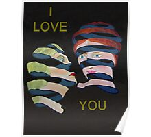 Lesvos By Night I Love You Poster