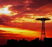 FIERY SKIES OF CONEY ISLAND by KENDALL EUTEMEY