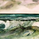 Watercolors - Sea-waves by Marlies Odehnal