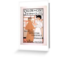 Armand Rassenfosse Salon affiche 2 Rassenfosse Greeting Card