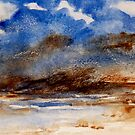 Watercolor - wild sea by Marlies Odehnal