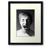 Yawn Framed Print
