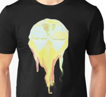 Melting Mushroom Cloud perched in the Sky formed from fallout shelter symbol Unisex T-Shirt