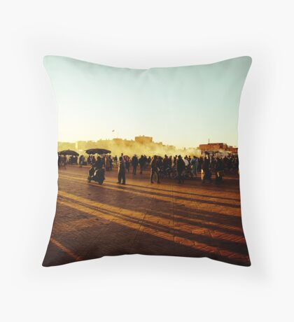 As the sun goes down... Throw Pillow