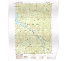 USGS Topo Map Oregon Westfir West 282057 1986 24000 Poster