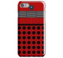 Not a robot. Red. Inspired by Daleks. iPhone Case/Skin
