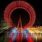 London Eye - Red Zoom by weglet