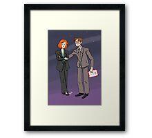 Scully & Mulder Framed Print