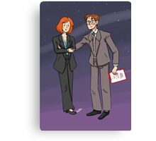Scully & Mulder Canvas Print