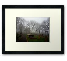 Alderney's Graveyard in the Fog Framed Print