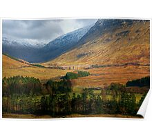 On the road to Glen Coe Poster