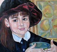 Asya in a hat by Nataliya Stoyanova